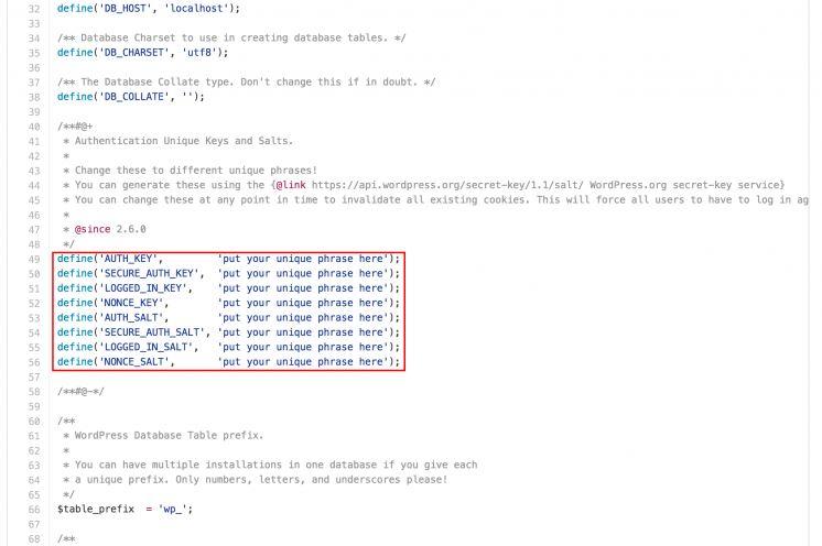 chỉnh sửa code cài đặt wordpress