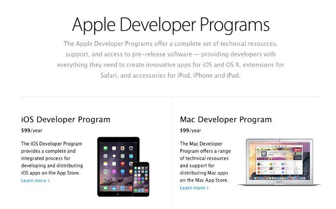 Apple Developer Program cũng là cái tên website mà bạn không nên bỏ qua khi muốn học lập trình web.