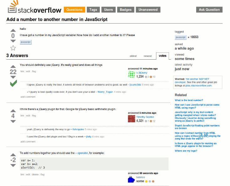 Stack Overflow là cộng đồng các lập trình viên lớn nhất hiện nay.