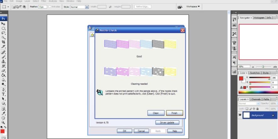 Bước 5 so sánh mẫu đã in và bảng màu trên máy