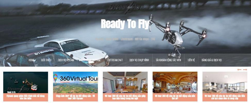 Flycam Sky: Đơn vị chụp hình toàn cảnh - quay phim VR 360 độ với Flycam